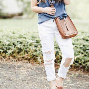 Hollister Vintage Boyfriend White Jeans